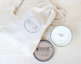 PICK 2 Wood Wick Mason Jar Soy Candle -Gift Packaging- Woodfire Candle