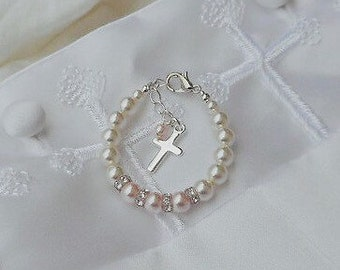 Baby Bracelets-Baptism-Cross-Christening-Keepsake