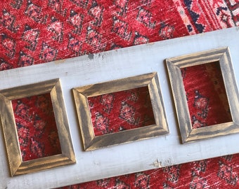 Handmade Triple 4x6 Picture Frame