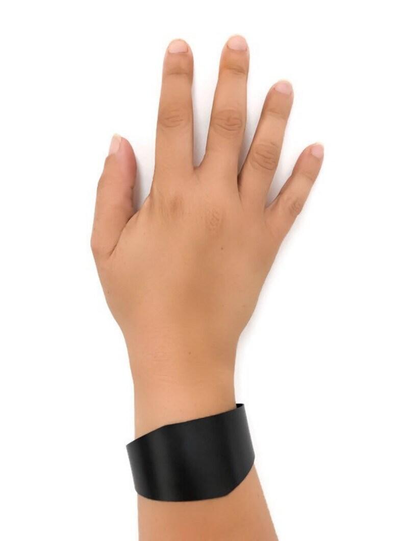 Contemporary Black Geometric Cuff Bracelet
