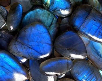 Blue Labradorite Cabochons 50 to 300ct Natural Fine Rainbow Blue Flash 10-30mm Gemstone Take 10% Off Rainbow Labradorite Jewelry Supplies