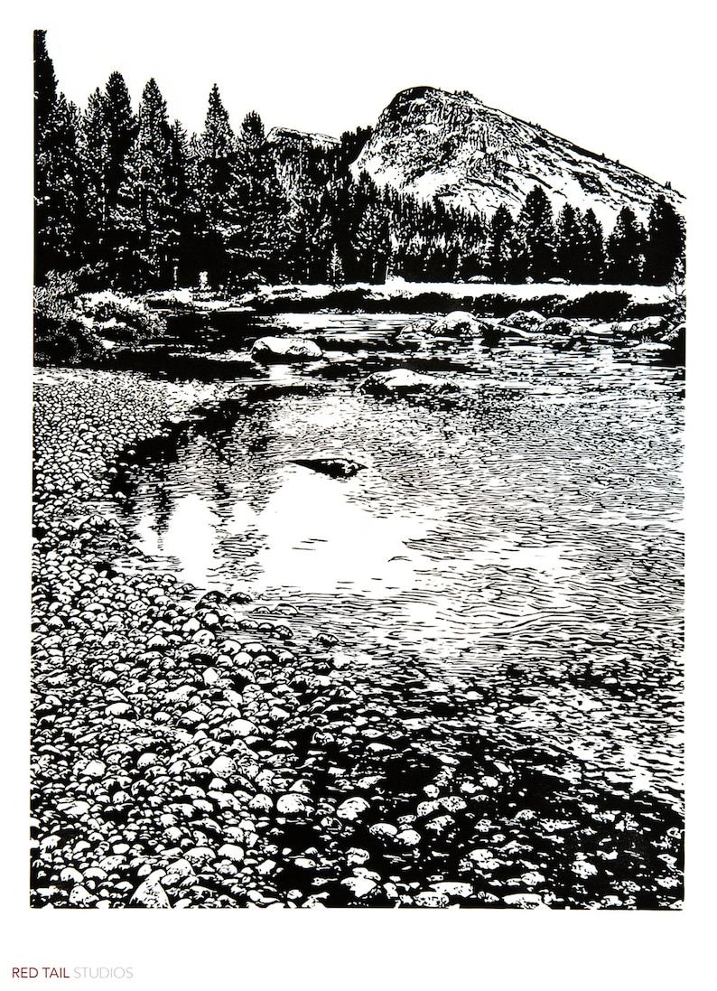 Lembert and Tuolumne  Yosemite Meadows River and Granite image 0