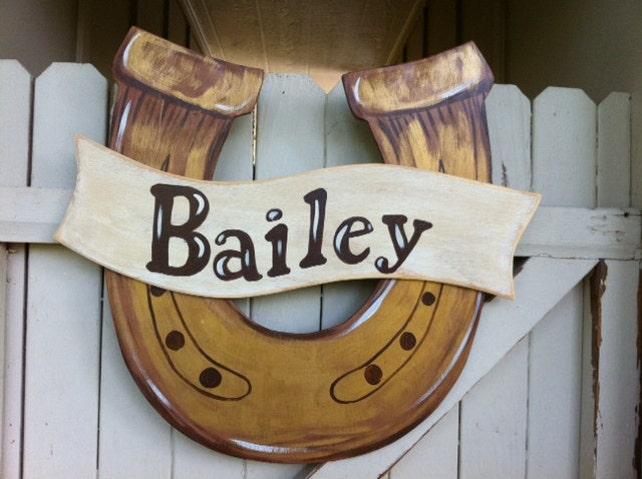 Attirant Horseshoe Cowboy Western Wooden Door Hanger | Etsy