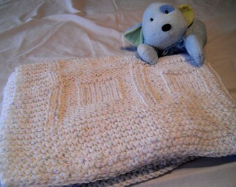 """Hand knit """"Cuddle-up"""" afghan"""