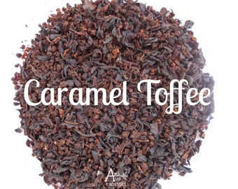 Caramel Tea, Organic, Black Tea, Loose Leaf, Hand Blended, English Toffee, Iced Tea, Butterscotch, Hot Tea, CARAMEL TOFFEE, Tea Lover Gift