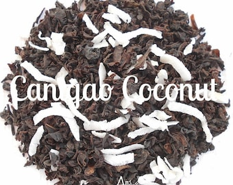 Coconut Black Tea, Organic, Hand Blended, Tropical, CANIGAO COCONUT, Tea Lover Gift, Under 5 Dollars, Loose Leaf, Healthy Lifestyle, Hot Tea