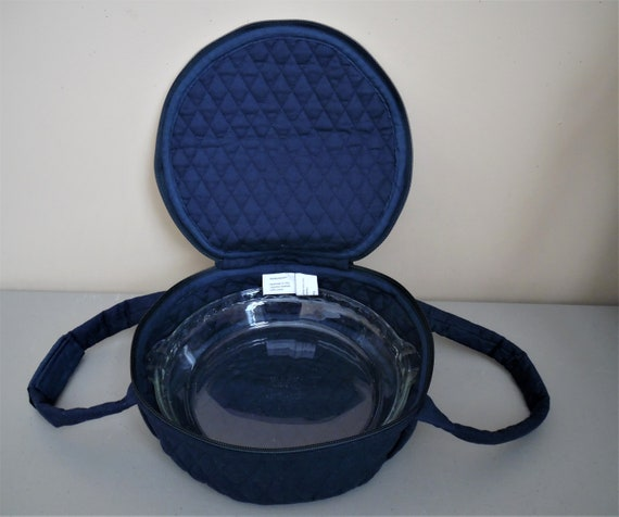 Quilted Blue N Green Paisley Pie or Small Dish Casserole Carrier