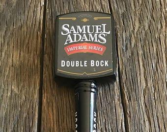 Sam Adams Beer Tap Handle - Large Samuel Adams Beer Tap Handle - Sam Adams Double Bock Beer Tap Handle - Black Sam Adams Beer Tap
