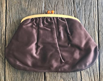 Purple And Gold Purse - Vintage 1960's Purse - Bobbie Jerome Purple Clutch Bag - Small Purse - Purple And Gold Clutch - Retro Purse