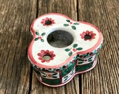Antique Ceramic Inkwell - Aladin France Porcelain Inkwell - Victorian Inkwell - Porcelain Inkwell By Aladin France - Collectible Inkwell