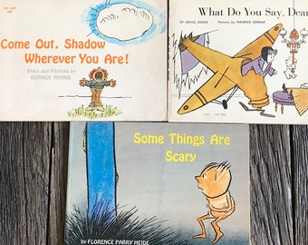 Vintage Lot Of Children's Books - Lot Of 3 Scholastic Book Services - Some Things Are Scary Book - Retro Paperback Kid's Books