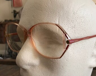 714ee89a7a0 Vintage Large Old Lady Style Eyeglasses - Vintage Silhouette Women s  Eyeglasses - Clear Frames with Purple Arms Glasses - Hipster Glasses
