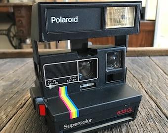 Vintage Polaroid Camera - Polaroid Supercolor 635 CL Camera - Polaroid Instant Camera - Supercolor 635 CL Camera - Original Polaroid Camera
