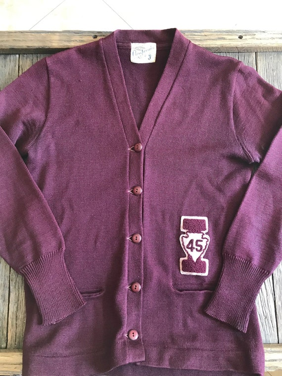 Antique College Sweater - 1945 Wool College Sweate