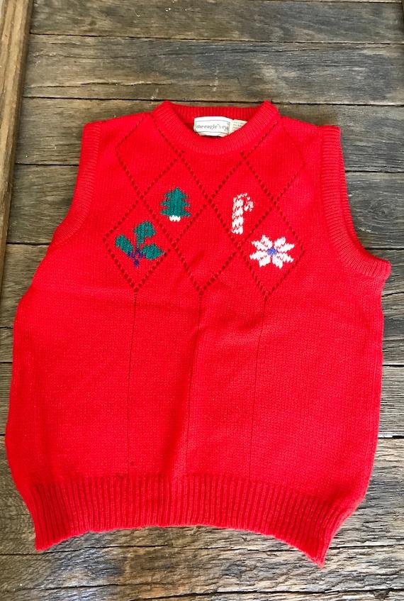 Vintage Christmas Sweater Vest - Vintage Ugly Chri