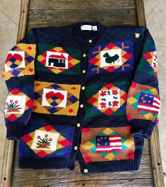 Vintage Ugly Sweater - Ugly Wool Sweater - Origina