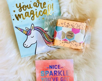 Unicorn Gift: Happy Mail includes card and free shipping