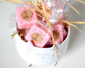 Mini Pink Baby Shower Soap Favors