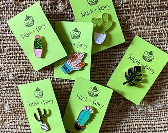 Pin Badges: Plants, Cactus and Succulents