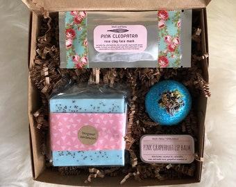 Free shipping birthday gift box: beauty gift box for her, spa gift set, girlfriend gift, treat yo'self gift box, birthday treat box