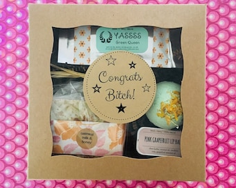 Congrats Bitch! Funny congratulations gift box for girlfriends