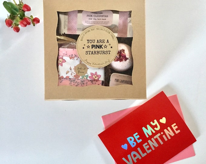 Featured listing image: Valentine Gift Box: Don't let anyone treat you like a yellow starburst.  You are a PINK starburst. Free Shipping!