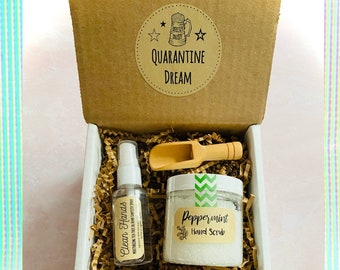 Quarantine Dream: Hand Sanitizer and Salt Scrub Gift Set