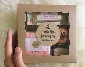 Free Shipping BRIDESMAID Gift box: bridesmaid thank you, bridesmaid proposal box, bridal party gift, bridesmaid proposal gift, thank you