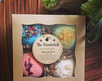 Bath Bomb Gift Box: spa box, bridesmaid gift, gift for her