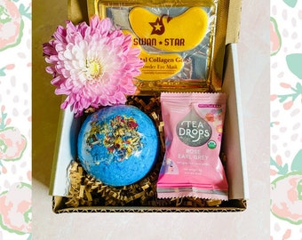 Mini Spa Box: XL Bath Bomb, Eye Mask and Tea Drop
