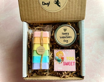 ROYGBV and candle Valentine Gift Box