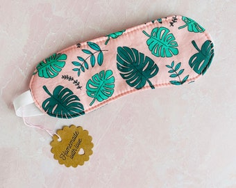 Pink Monstera Sleep Mask