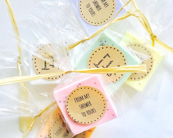 Featured listing image: Guest Sized Soap Favors with Large Label