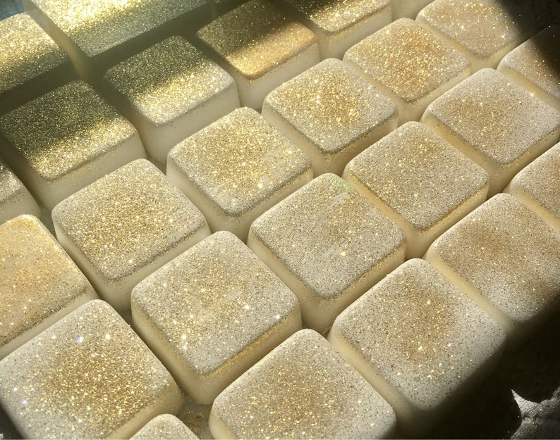 Christmas Wedding Favors: Gold Champagne Soap Favors for image 0
