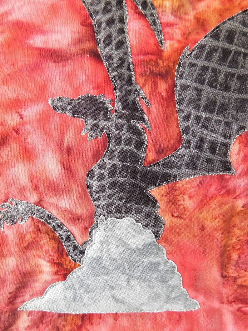 Dragon Wall Hanging Banner Quilted