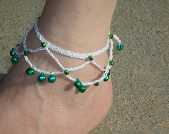 Crocheted Jingle Anklets
