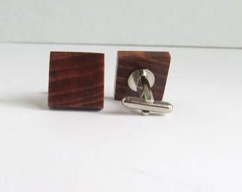 Wooden Cufflinks, Wedding Cufflinks, Groomsmens Gift