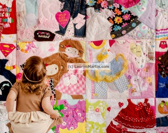DEPOSIT LISTING | Memory Quilt | Baby Clothes Quilt | Memory Blanket | PLEASE read item details |
