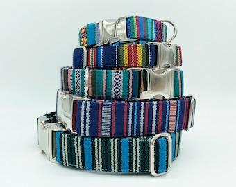 Alu-Buckle + Adjustable Dog Collar, brightly colored boy + girl dog collar