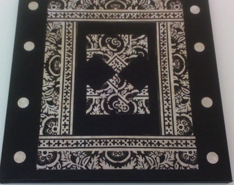 Black white abstract Canvas Art