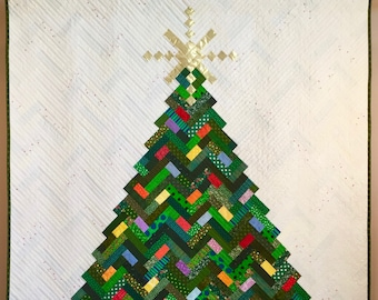 New Slant on Christmas quilt; Christmas tree; holiday quilt