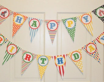 BIG TOP CIRCUS Happy Birthday Party Banner - Party Packs Available