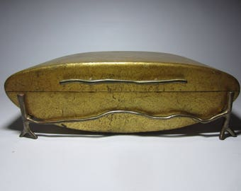 A Stunning Sculptural Regency Gilt Wood Vanity Dresser Jewelry Box
