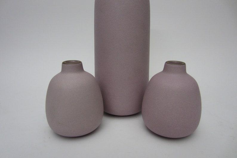 3 Signed Edith Heath Ceramic Pottery Ikebana Bud Posey Vase