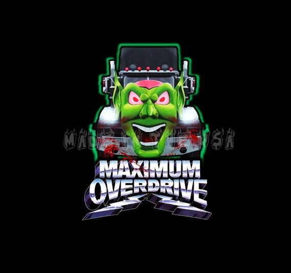 Maximum Overdrive T Shirt Bloody Logo Stephen King 80/'s Classic New