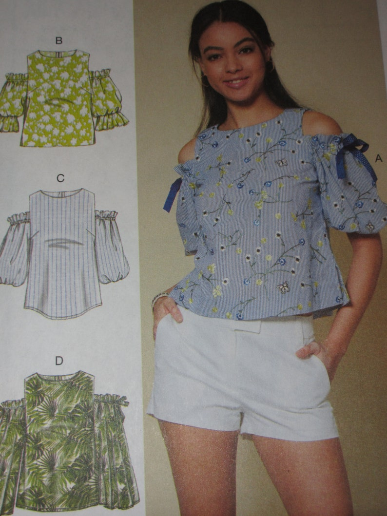 75b45152e992ce Plus Size Shoulder-Less Tops McCall's M7781 Pattern Sizes | Etsy