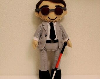 b3ca39da20 Daredevil Matt Murdock Inspired Felt Doll