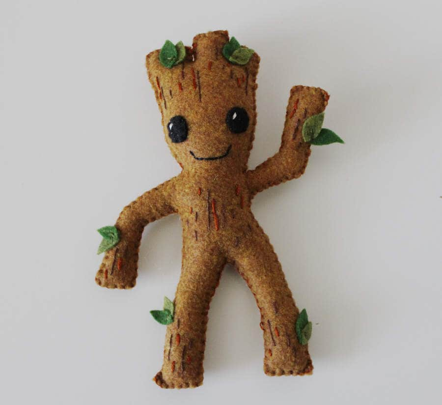 Baby Groot Plush Guardians Of The Galaxy Inspired Felt