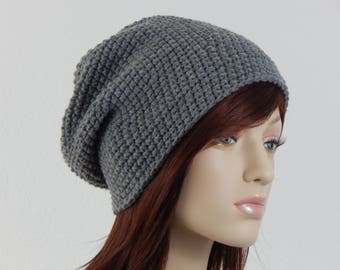 Slouchy Beanie Slouchy Hat Womens Hat Blue Fall Black Brown Color Choices Slouch Hat White Gold Boho Winter Slouch Gray Ivory