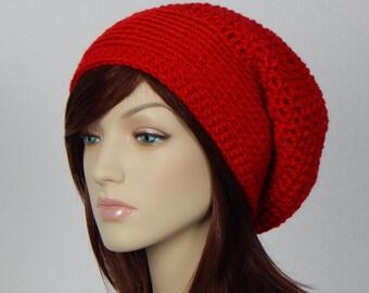 Scarlet Red Slouch Hat 4758dd2edfd